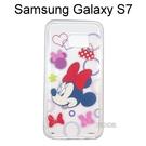 迪士尼透明軟殼 [形狀] 米妮 Samsung G930FD Galaxy S7【Disney正版授權】