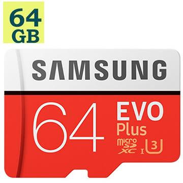 SAMSUNG 三星 64GB 64G microSDXC【100MB/s】EVO Plus microSD SDXC U3 C10 4K MB-MC64GA 手機記憶卡