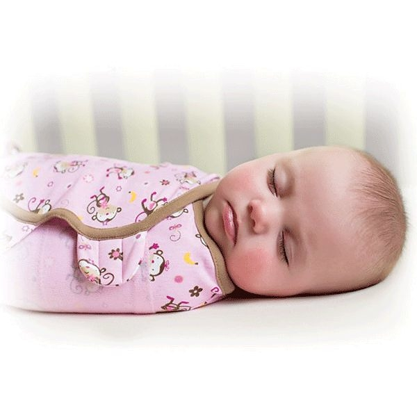 《美國Summer infant》聰明懶人純棉包巾(親親小猴) ㊣原廠授權總代理公司貨