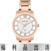 【台南 時代鐘錶 GOTO】GS0388L-44-241 簡約設計鏤空時尚腕錶 玫瑰金 37mm
