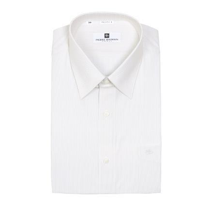 【南紡購物中心】【PIERRE BALMAIN 皮爾帕門】長袖襯衫-白色細條紋(F1)