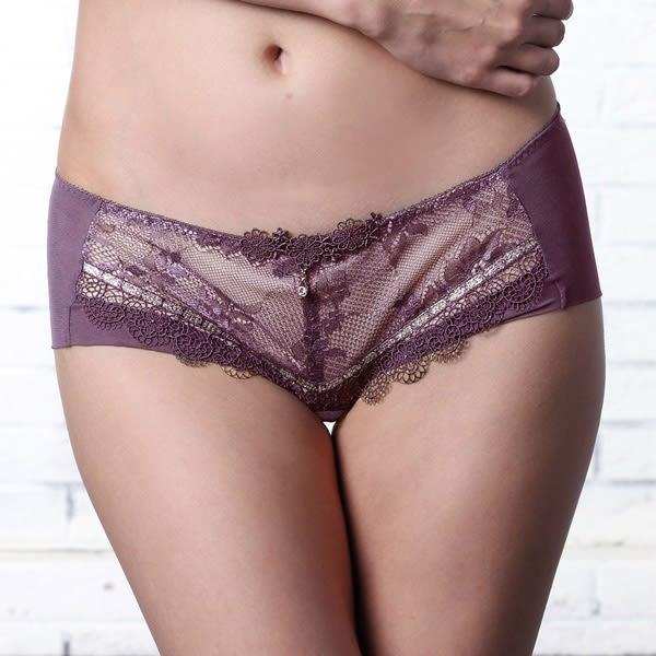 LADY 菲露莎系列 低腰平口褲(優雅紫)