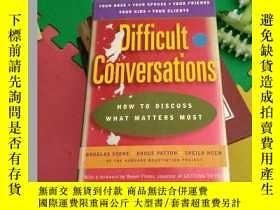 二手書博民逛書店Difficult罕見Conversations: How to