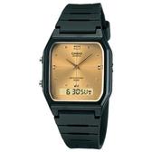 【CASIO】經典方形雙顯錶-金(AW-48HE-9A)
