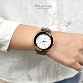 韓國手錶  LAVENDA水鑽時刻皮革錶NEKL14