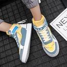 高筒鞋男鞋春季潮鞋學生板鞋百搭鞋子男潮2020新款休閒鞋韓版潮流高筒鞋 貝芙莉