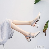 新款法式少女小清新高跟鞋仙女風春夏中粗跟百搭春秋淑女單鞋 3C優購
