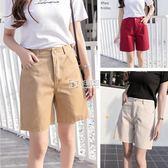 西裝短褲女新款韓版中年大碼高腰修身顯瘦外穿黑色百   卡菲婭