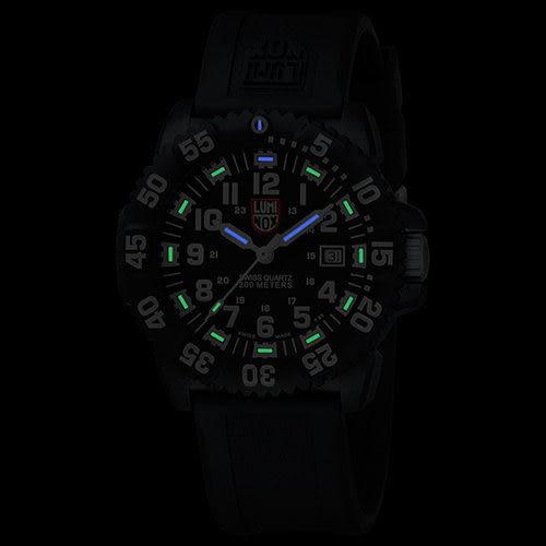 海豹部隊指標系列 經典腕錶-黑x白時標/44mm LUMINOX 雷明時