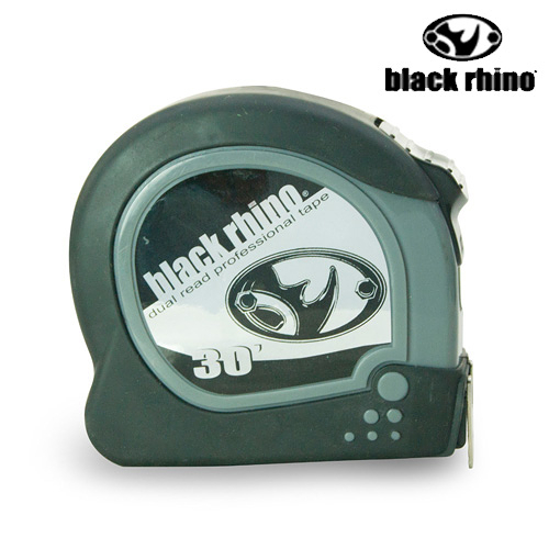 LIKA夢 美國黑犀牛Black Rhino專業手工具 台灣製造 Dual/Metric Tape 30英呎/9M 雙面捲尺 #025