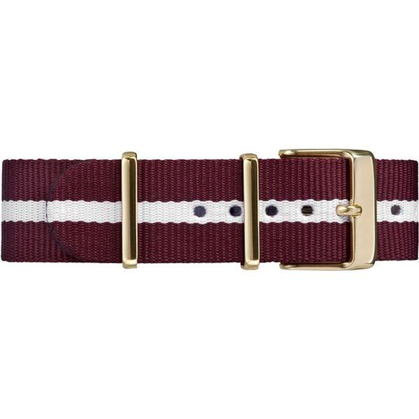 【TIMEX】天美時週末Fairfield系列帆布帶女錶 (白紅條紋 TXT2P98100)