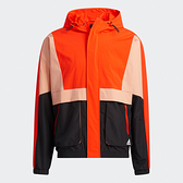 Adidas ST WV PKT 男裝 外套 連帽 可調式帽緣 拉鍊口袋 撞色 橘黑【運動世界】H40212