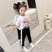 童裝短袖女童2018新品女 韓國洋氣中大童印花t恤寶寶夏季上衣 【全館免運八五折任搶】