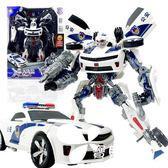 變形玩具金剛5 超大警車聲光汽車機器人正版模型男孩兒童玩具禮物