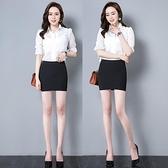 黑色職業群包臀裙工裝裙超短裙女彈力半身裙子緊身工作一步裙秋冬 四季生活