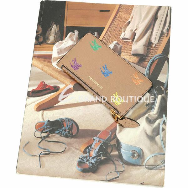 BURBERRY 戰馬騎士圖案拉鍊式卡片夾(駝色) 1920451-02