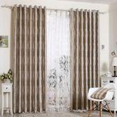 窗簾 歐式麂皮絨落地窗簾成品婚房溫馨銀色公主布料客廳臥室成品遮光布