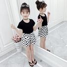 衣童趣↘韓版中大女童 可愛點點短褲 百搭夏日闊腿短褲【現貨】