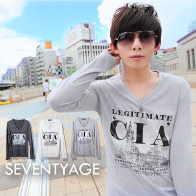 ∥柒零年代∥sensibility【N7588J】韓系都會簡約風格CIA歐洲街景V領棉料長袖上衣(LE-TA033)