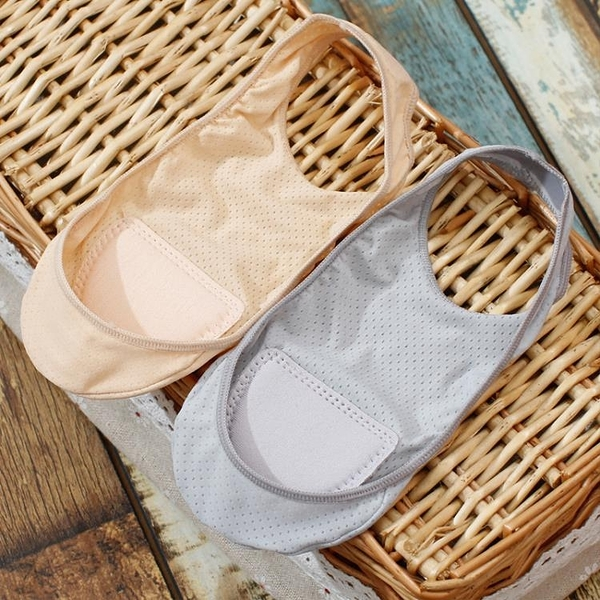 4雙裝 超薄冰絲船襪女夏網眼透氣超淺口硅膠防掉跟隱形吊帶襪寬帶