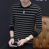 秋季長袖男士圓領毛線衣韓版青年上裝修身休閒學生潮針織打底小衫