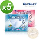 【醫碩科技】藍鷹牌 NP-3DE*5 台灣製 成人立體型防塵口罩 一體成型款 藍/粉 50片*5盒 免運費