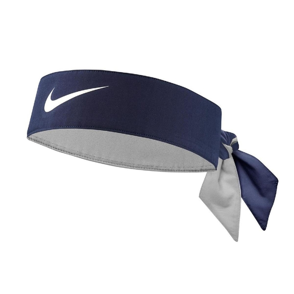 Nike 頭帶 Tennis Headband 藍 白 男女款 勾勾 髮帶 頭巾 運動休閒 【ACS】 NTN0040-1OS