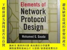 二手書博民逛書店英文原版罕見Elements of Network Protoc