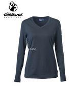丹大戶外用品【Wildland】女 POWER GRID 底層保暖衣 型號 P2663-54 黑色