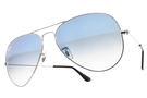 RayBan 太陽眼鏡 RB3025 0033F -58mm (銀) 經典百搭款 飛官墨鏡 # 金橘眼鏡