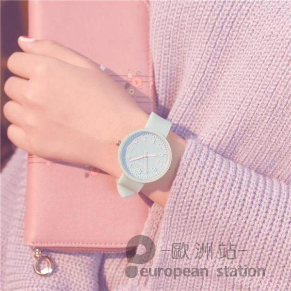 手錶/女糖果色果凍錶可愛「歐洲站」