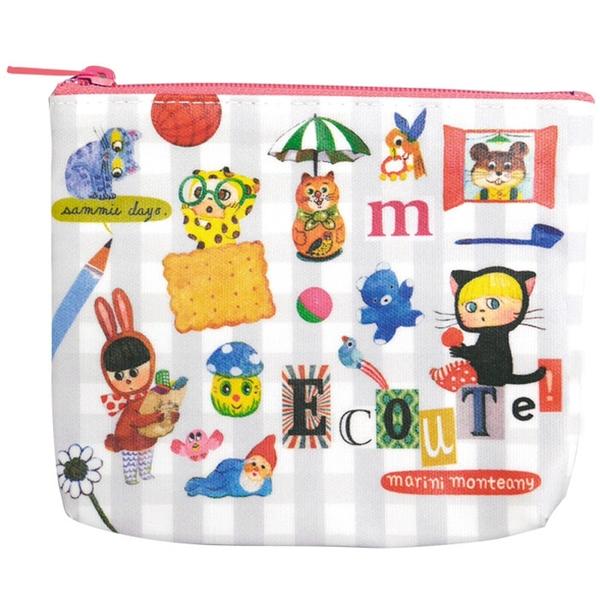 【日本製】【ECOUTE!】萬用包 面紙包 拼貼畫圖案 SD-3769 - ecoute!