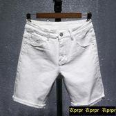 牛仔短褲-夏季破洞牛仔短褲男士五分褲韓版 衣普菈
