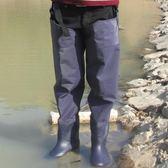 姜太公下水褲連體加厚雨鞋雨褲 半身防水褲捕魚褲男戶外腿褲