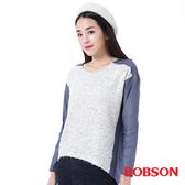 BOBSON 女款異素材寬鬆版上衣(35088-01)