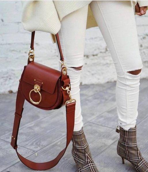 ■專櫃73折■全新真品■Chloe Tess 小款小牛皮兩用包 Sepia Brown 深栗酒紅色