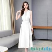 連身裙洋裝 雪紡寬鬆時尚流行中長款貴夫人百搭流行2020春夏裝新款裙子 OO11951『科炫3C』