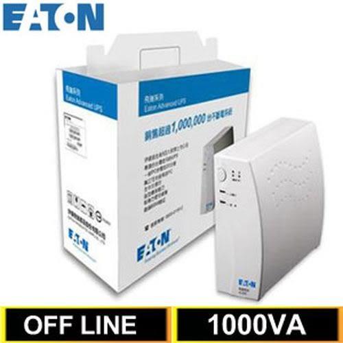 Eaton飛瑞 1KVA Off-Line 離線式UPS不斷電系統 A1000 【加送佰元7-11禮卷二張】