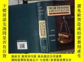 二手書博民逛書店THE罕見LAW AND BUSINESS ADMINISTRATIO IN CANADA 加拿大法律與工商管理。
