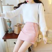 大碼套裝女秋冬季時尚韓版學生小清新毛衣毛呢裙子加厚小香風兩件套 Mt8411『Pink領袖衣社』