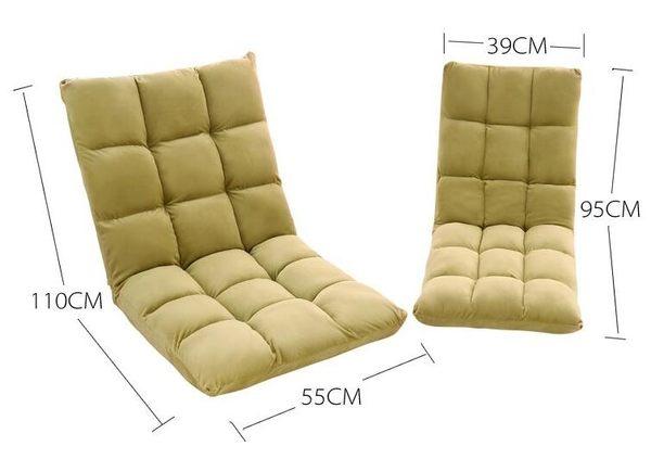 懶人沙發單人休閑折疊可拆洗小沙發椅榻榻米(大號)-炫彩腳丫折扣店