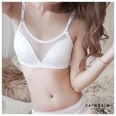 Catworld New Sexy。背心款無鋼圈防走光網紗內衣(白)【18805715】‧S-XL