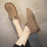 棉鞋女防滑平底秋冬季新款百搭保暖加厚短靴子短筒雪地靴 限時熱賣