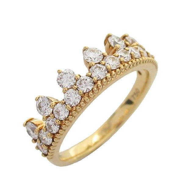 JEWELRY HAEART ON FIRE 鑲鑽皇冠造型18K玫瑰金戒指 Ring 【BRAND OFF】
