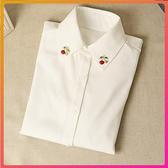 襯衫 設計感小眾荷葉袖白色襯衣女長袖韓版百搭學院風寬鬆襯衫上衣 限時8折