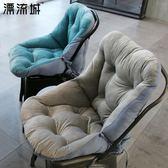 連體坐墊靠墊背一體辦公室護腰座墊家用椅子學生宿舍電腦椅墊加厚 igo