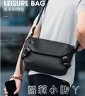 馬可萊登2021新款單肩包男士包包潮牌斜背包休閒郵差包工裝小背包 蘿莉新品