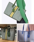 ■現貨在台■專櫃71折■全新真品Tory Burch Gemini Link 大款托特包 綠色 藍色