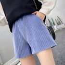 靴褲 短褲女秋冬款外穿2021新款高腰顯瘦百搭打底靴褲雪尼爾休閒闊腿褲 艾維朵