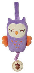 美國MyNatural Owl Musical貓頭鷹音樂拉鈴 紫色